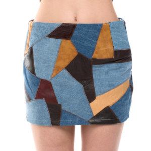 Patchwork bohemian mini skirt - Sisters Code by SBC