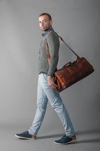 Male model with a bag