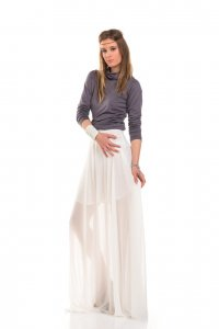 Princess skirt, white maxi skirt - Sisters Code by SBC